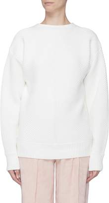 Victoria Beckham VICTORIA, Convertible button back rib knit sweater