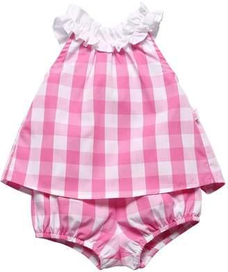 Il Gufo Check Cotton Poplin Top & Shorts