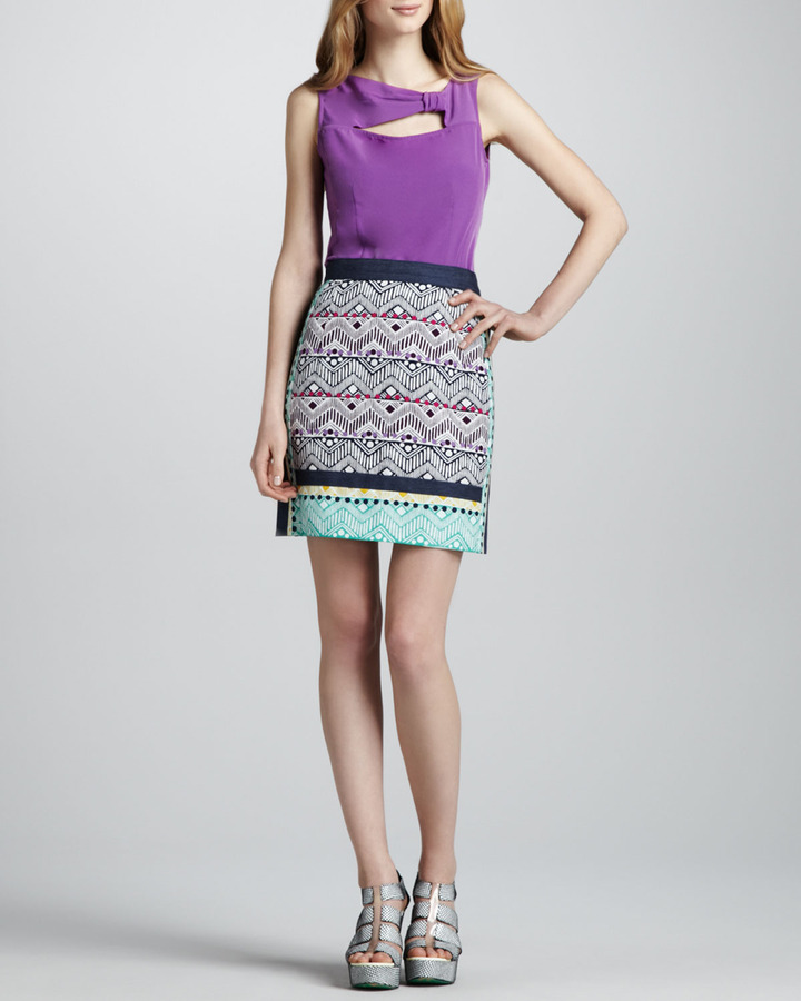 Nanette Lepore Tinos Printed Pencil Skirt