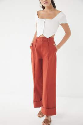 Urban Outfitters Tailored Deep Cuff Wide Leg Pant