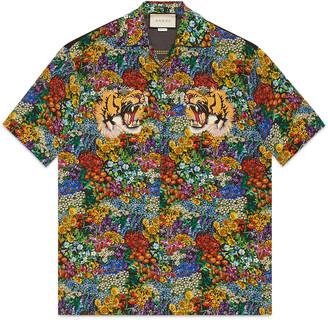 Floral print silk bowling shirt $1,280 thestylecure.com