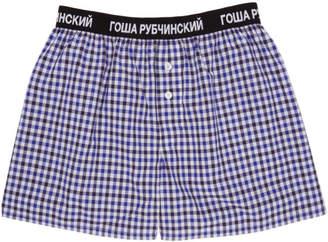 Gosha Rubchinskiy Blue Check Boxers