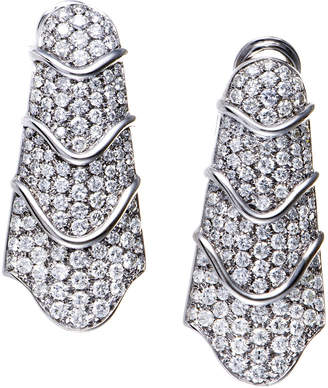 Splendid Diamond Select Cuts 18K 8.45 Ct. Tw. Diamond Drop Earrings