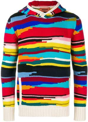 Missoni colour block hoodie