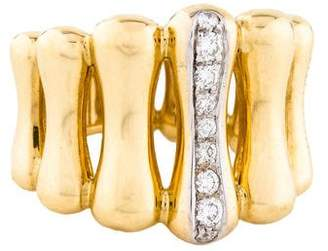 Chimento 18K Diamond Bamboo Ring
