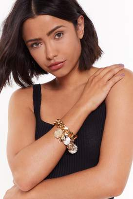 Nasty Gal Chain of Your Life Chunky Pendant Bracelet