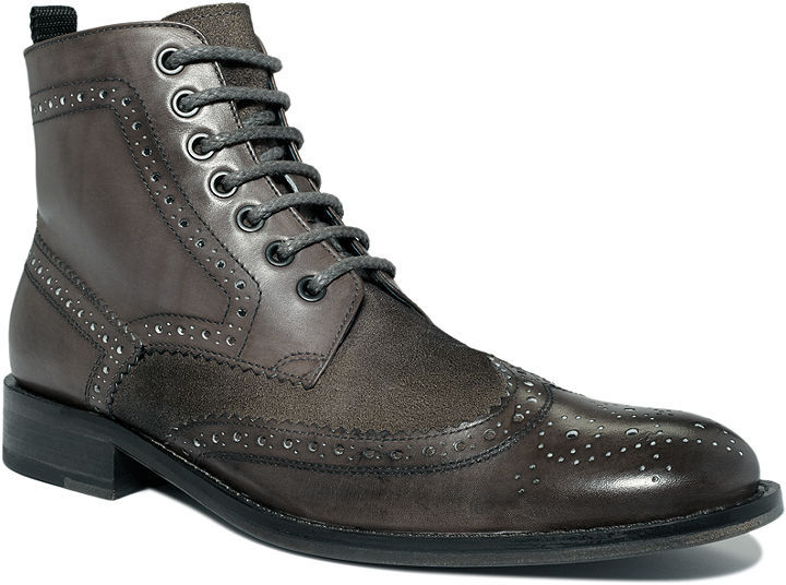 Kenneth Cole Boots, Quick Think-Er Wing Tip Lace Up Boot
