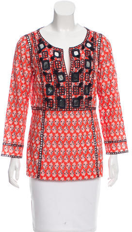 Tory BurchTory Burch Embellished Printed Top