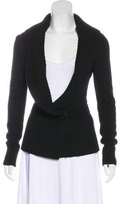 Givenchy Merino Wool-Blend Shawl-Lapel Cardigan
