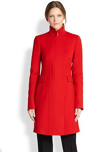 Akris Punto Wool Stand Collar Coat