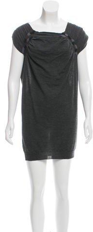 pradaPrada Wool Cap Sleeve Dress