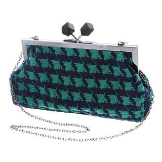Li'Shay Oversized Houndstooth Clutch Evening Bag