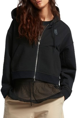 Women's Nike Lab Essentials Crop Hoodie $200 thestylecure.com