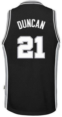 adidas Tim Duncan San Antonio Spurs Retired Player Swingman Jersey, Big Boys (8-20)