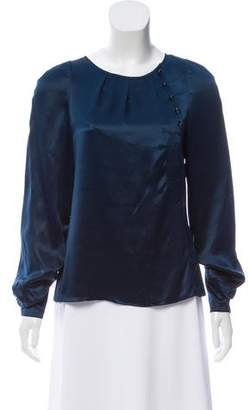 Marc by Marc Jacobs Button-Accented Silk Top