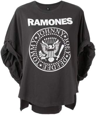 R 13 Ramones rolled-sleeves T-shirt