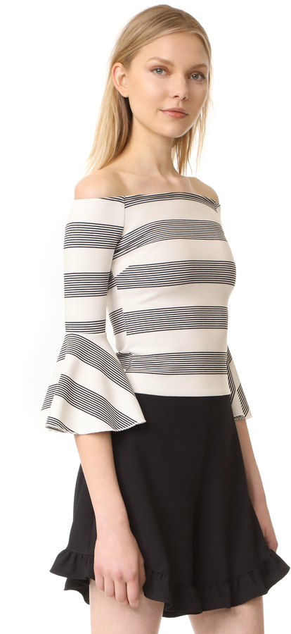 Line & Dot Ella Off the Shoulder Top 2