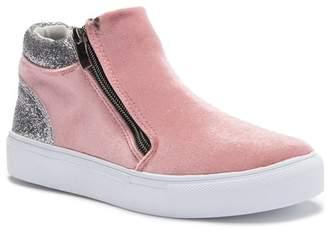 Hoo Glitter Zip High Top Sneaker (Toddler, Little Kid, & Big Kid)