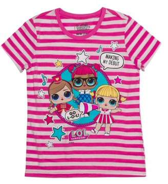 LOL Surprise My Debut Striped Graphic T-Shirt (Little Girls & Big Girls)