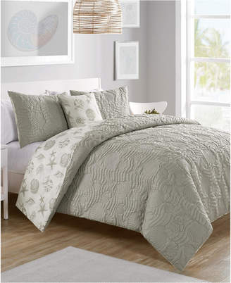 Vcny Home Beach Island 3-Pc. Twin Xl Reversible Duvet Cover Set Bedding