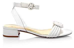 Alexandre Birman Women's Vicky Leather Knot Ankle-Strap Sandals