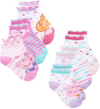 Peppa Pig Toddler Girls 6-Pk. No-Show Socks