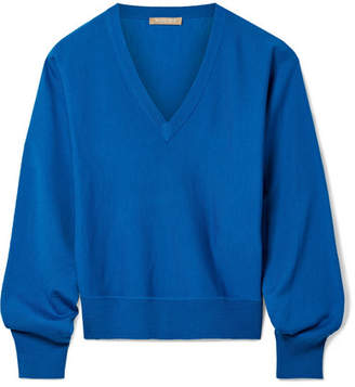 Michael Kors Merino Wool-blend Sweater - Bright blue
