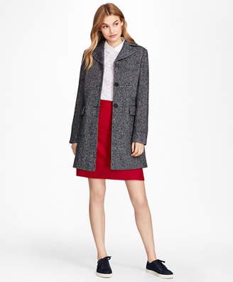 Brooks Brothers Herringbone Wool-Blend Swing Coat