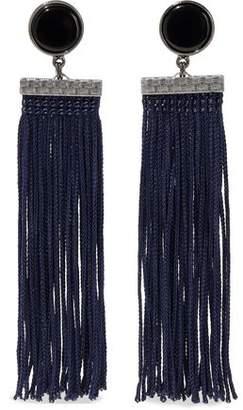 Ben-Amun Gunmetal-Tone Resin And Tassel Earrings