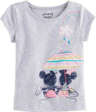 Disneyjumping Beans Disney's Mickey Mouse & Minnie Mouse Toddler Girl Umbrella Graphic Tee by Jumping Beans