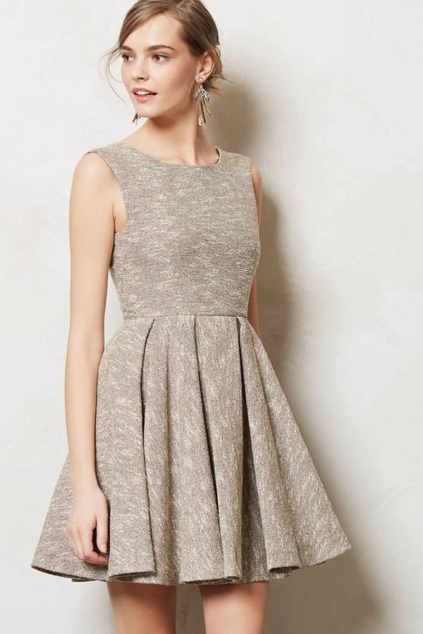 Anthropologie Shimmered Tweed Dress