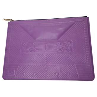 Corto Moltedo Purple Leather Clutch Bag