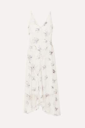 Jason Wu Ruffled Floral-print Fil Coupé Georgette Midi Dress - White