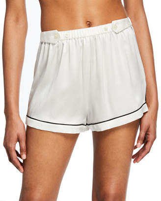 Morgan Lane Fiona Tab-Adjustable Silk Lounge Shorts