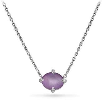 David Yurman Chatelaine® Single Stone Necklace With Amethyst And