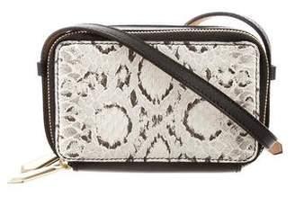 Reed Krakoff Snakeskin Double Zip Crossbody Bag w/ Tags