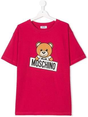 Moschino Kids TEEN Teddy logo print T-shirt