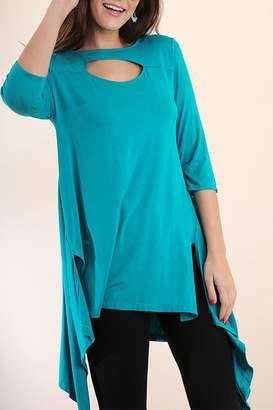 Umgee USA Turquoise High-Low Tunic