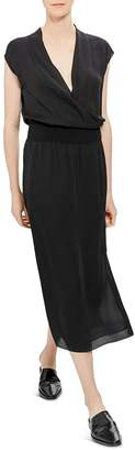 Theory Draped Silk Dress