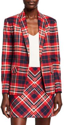 Trina Turk Habanero 2 Plaid One-Button Jacket