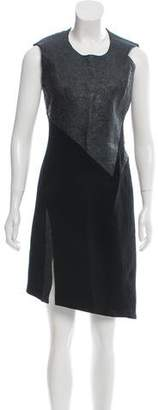 Helmut Lang Leather-Paneled Sheath Dress w/ Tags