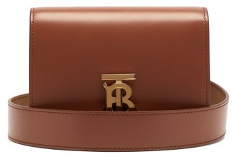 Burberry Monogram Clasp Leather Belt Bag - Womens - Tan