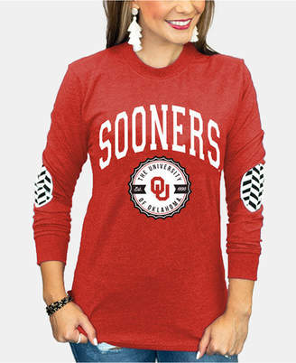 Couture Gameday Women Oklahoma Sooners Elbow Patch Long Sleeve T-Shirt