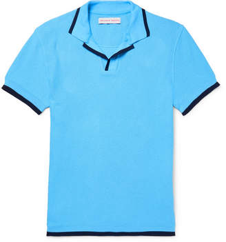 Orlebar Brown Erick Slim-fit Cotton-pique Polo Shirt - Blue