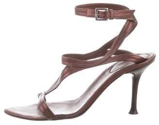 Sergio Rossi Leather Strap Sandals