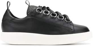 Grey Mer contrasting vamp sneakers