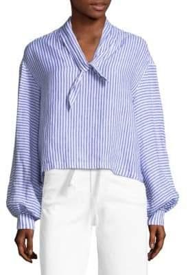 Frame Striped Handkerchief Linen Blouse