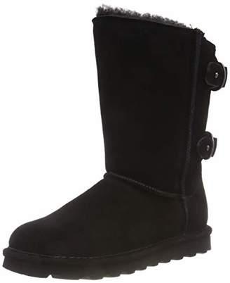 BearPaw Women's Clara Slouch Boots (Black Ii 011)