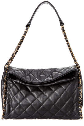 Chanel Black Quilted Lambskin Leather Chain Around Hobo