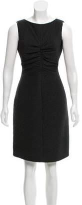 Valentino Wool-Blend Sheath Dress Black Wool-Blend Sheath Dress
